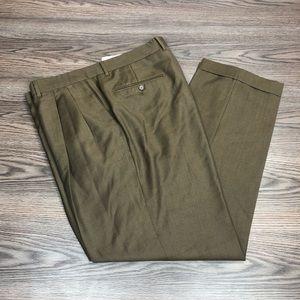 Santorelli Mocha Brown Dress Pants 38x32